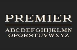 Progettazione moderna di carattere dei caratteri tipografici con grazie Fonte di vettore, lettere di alfabeto, tipo royalty illustrazione gratis
