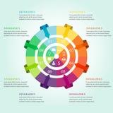 Progettazione moderna di infographics illustrazione di stock