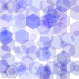 Progettazione moderna geometrica blu del fondo Disposizione per annunciare illustrazione vettoriale