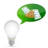 Progettazione monetaria dell'illustrazione di idea Immagine Stock