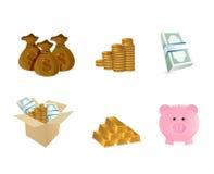 Progettazione monetaria dell'illustrazione di simbolo Immagine Stock