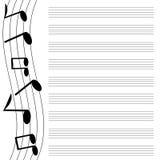 Progettazione musicale Immagine Stock