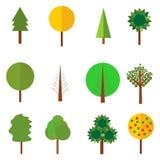 Progettazione naturale del fondo del giardino di ecologia Icona della foresta Simbolo di legno Fotografia Stock