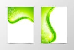 Progettazione naturale del modello dell'aletta di filatoio della parte posteriore e della parte anteriore Immagine Stock