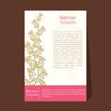Progettazione naturale dell'aletta di filatoio o dell'opuscolo illustrazione di stock