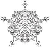Progettazione nera astratta del pizzo nella mono linea stile - five-fing royalty illustrazione gratis