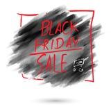 Progettazione nera del fondo di vendita di venerdì Immagini Stock