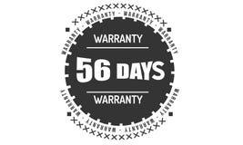 progettazione nera dell'illustrazione della garanzia da 56 giorni illustrazione di stock