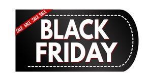 Progettazione nera dell'insegna di vendita di venerdì illustrazione di stock