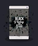 Progettazione nera di vendita di venerdì Immagine Stock