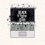 Progettazione nera di vendita di venerdì Fotografia Stock Libera da Diritti