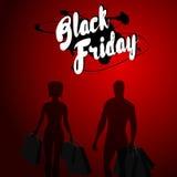 Progettazione nera di vendita di venerdì fotografia stock