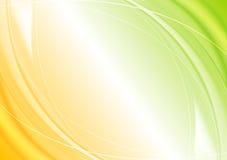 Progettazione ondulata arancio verde astratta del modello Fotografia Stock