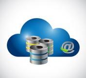 Progettazione online dell'illustrazione del server della nuvola Fotografie Stock
