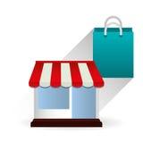 Progettazione online di compera, illustrazione di vettore Immagine Stock