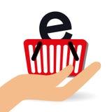 Progettazione online di compera, illustrazione di vettore Fotografie Stock Libere da Diritti