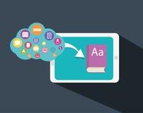 Progettazione online di istruzione Fotografie Stock