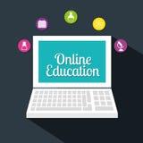 Progettazione online di istruzione Immagini Stock Libere da Diritti