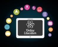 Progettazione online di istruzione Fotografia Stock Libera da Diritti