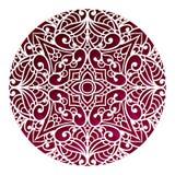 Progettazione orientale della mandala Ornamento d'annata Disposizione tribale Islam, illustrazione di stock