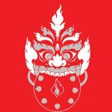 Progettazione orientale di arte del tatuaggio del mostro Fotografia Stock