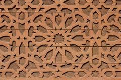 Progettazione orientale, modello arabo su fondo di legno Fotografie Stock
