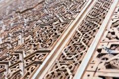Progettazione ornamentale a Alhambra Granada, spagna Immagine Stock