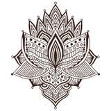 Progettazione ornamentale di arte del tatuaggio Modello dell'ornamento del tappeto Vettore per la pagina adulta di coloritura Sta royalty illustrazione gratis
