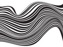 Progettazione ottica della banda mobious in bianco e nero dell'onda Fotografie Stock Libere da Diritti