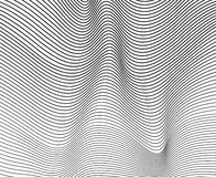 Progettazione ottica della banda mobious in bianco e nero dell'onda Fotografie Stock
