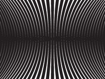 Progettazione ottica della banda mobious in bianco e nero dell'onda Immagini Stock