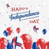 Progettazione patriottica di festa dell'indipendenza di isole faroe Fotografie Stock