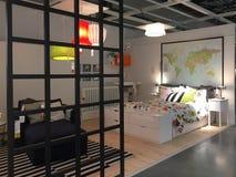 Camera Da Letto Ideale Nel Deposito Di IKEA, Sydney Fotografia Stock ...