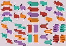 Progettazione piana degli autoadesivi di web Fotografie Stock Libere da Diritti