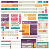 Progettazione piana degli elementi, insieme di ui Vettore Fotografie Stock Libere da Diritti
