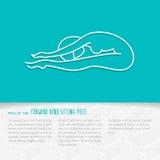 Progettazione piana del libretto di yoga royalty illustrazione gratis