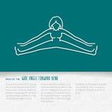 Progettazione piana del libretto di yoga illustrazione di stock