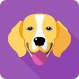 Progettazione piana dell'icona del cane Fotografia Stock