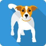 Progettazione piana dell'icona del cane Fotografia Stock Libera da Diritti