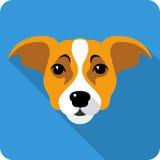 Progettazione piana dell'icona del cane di vettore Immagine Stock