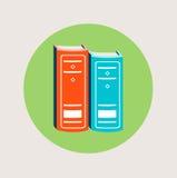 Progettazione piana dell'icona di due libri di vettore Fotografia Stock Libera da Diritti