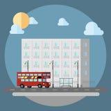 Progettazione piana della via di paesaggio urbano royalty illustrazione gratis