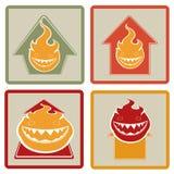 Progettazione piana delle case brucianti Fotografie Stock Libere da Diritti