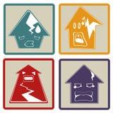 Progettazione piana delle case incrinate Fotografie Stock Libere da Diritti