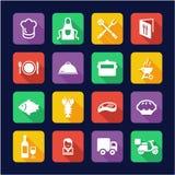 Progettazione piana delle icone di affari di approvvigionamento illustrazione vettoriale