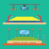Progettazione piana dello stadio di sport Fotografia Stock Libera da Diritti