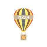 Progettazione piana di consegna della pizza dell'aerostato Royalty Illustrazione gratis