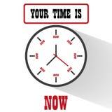 Progettazione piana di motivazione dell'orologio Fotografie Stock
