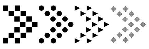 Progettazione piana di un insieme delle icone delle frecce su un fondo bianco Illustrazione di vettore Offerta mega eccellente pe royalty illustrazione gratis