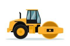 Progettazione piana di vettore del rotolo Macchinario pesante illustrazione di stock